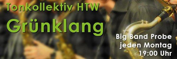 Grünklang, die Big Band des Tonkollektiv HTW, freut sich über neue Mitglieder